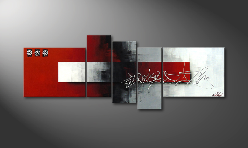 Modern painting Clear Thought 160x60x2cm