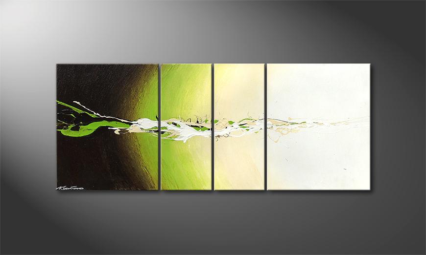 Modern painting Fruity Splash 120x50x2cm