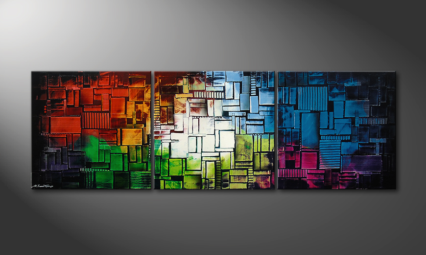 Painting Color Cubes210x70x2cm