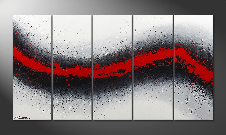 Painting Glowing Trace 150x80x2cm
