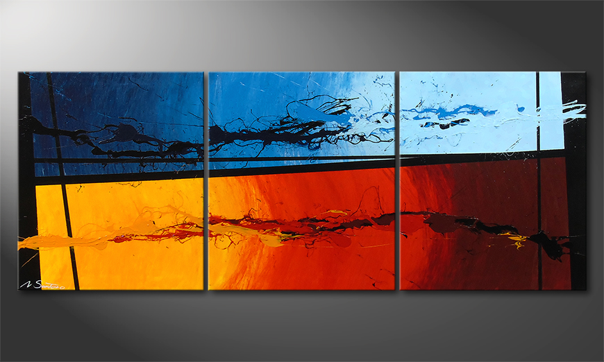 Painting Hot and Cold 150x60x2cm
