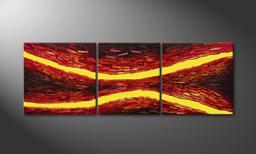 Painting Lava Splits in 200x70x2cm