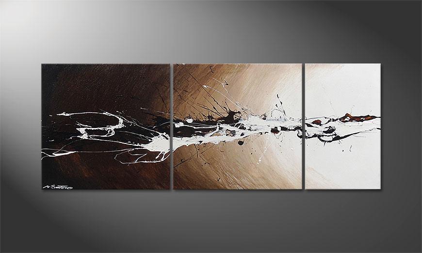 Painting Light Eruption 130x50x2cm