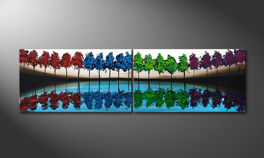 Painting Miracle Forest 200x60x2cm