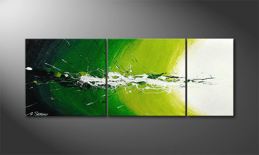 Painting Spring Splash in 130x50x2cm