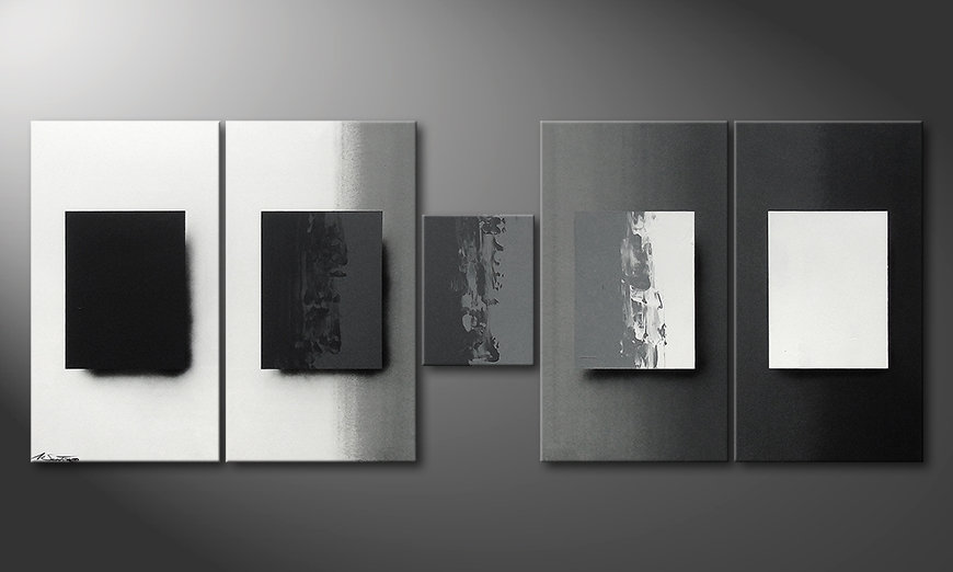 Shades of Grey 230x90x2cm Painting