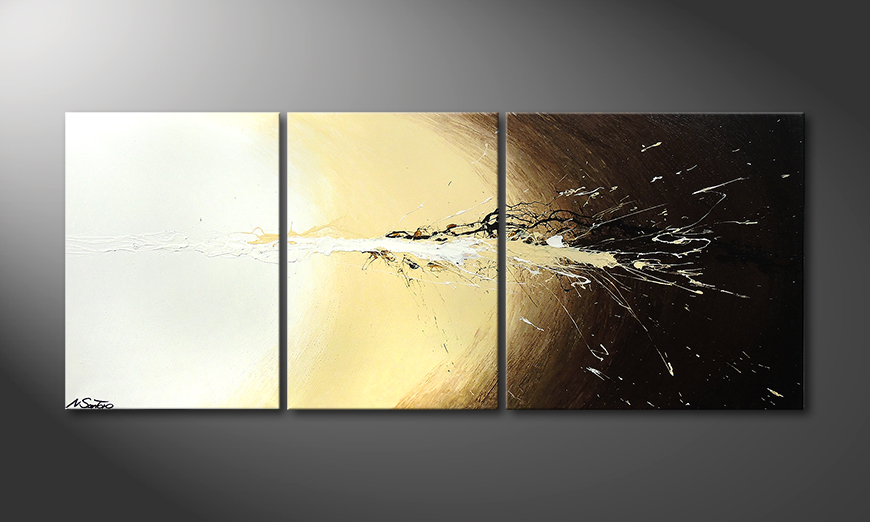 Painting Exploded Light 170x70cm