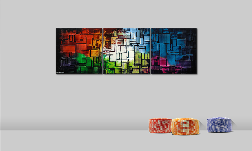 Painting Color Cubes210x70cm