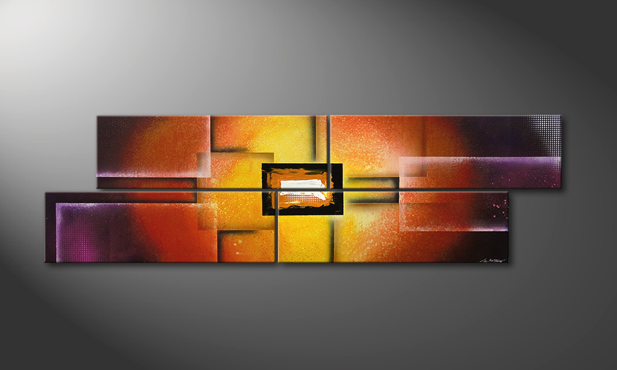 Painting Colors of Heat 200x60cm