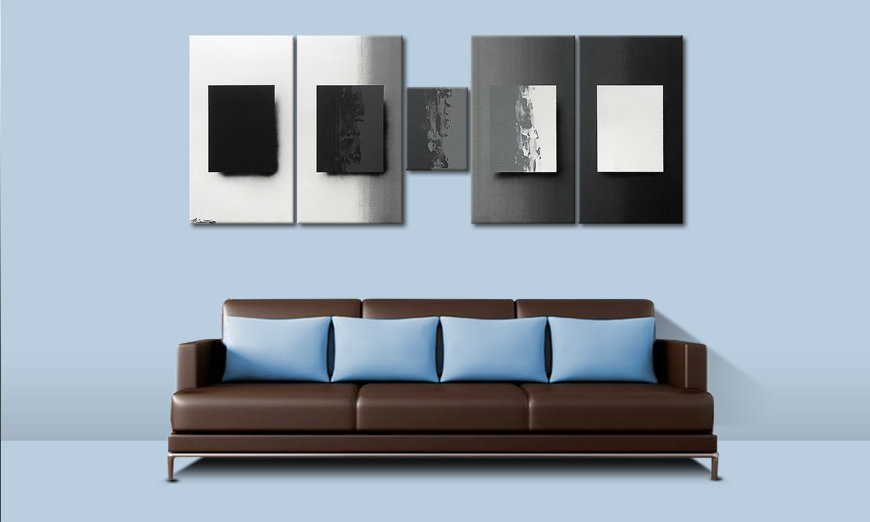Shades of Grey 230x90cm Painting