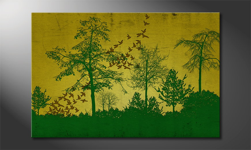 Art-print-Birds-in-Forest