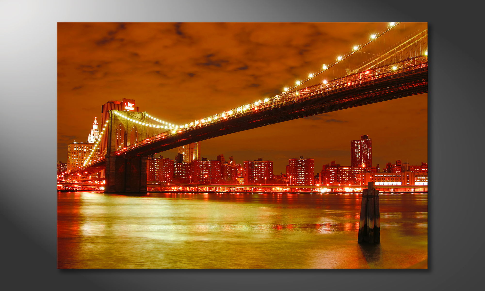 art print brooklyn bridge paintings xxl. Black Bedroom Furniture Sets. Home Design Ideas