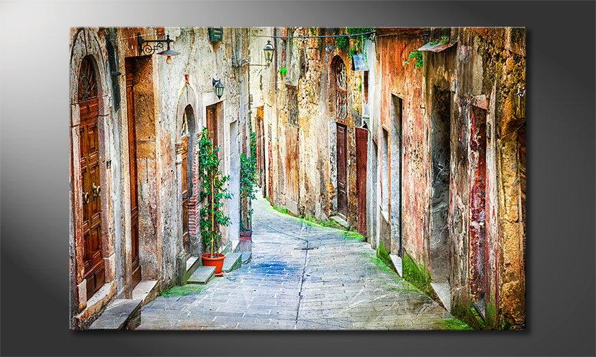 Art print Charming Alley