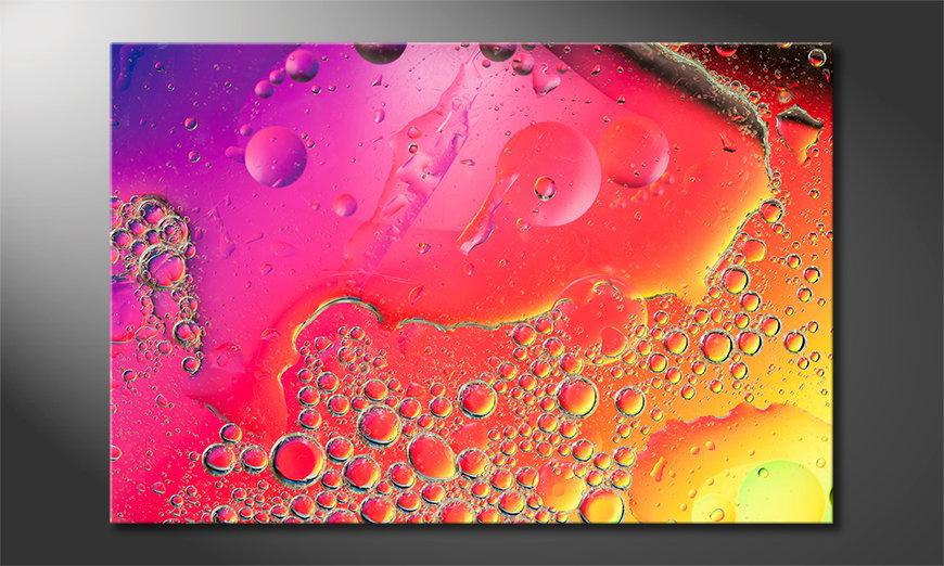 Art print Colourful Water I