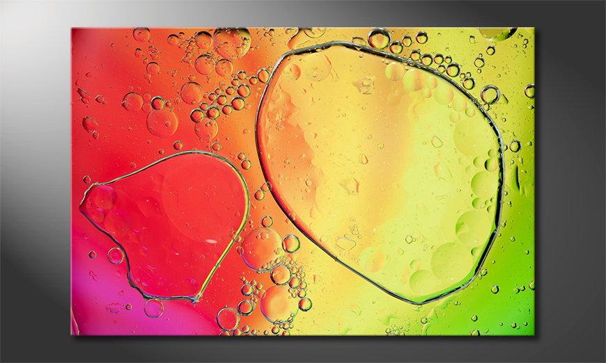 Art print Colourful Water II