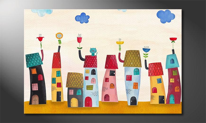 Art print Fairytale Town