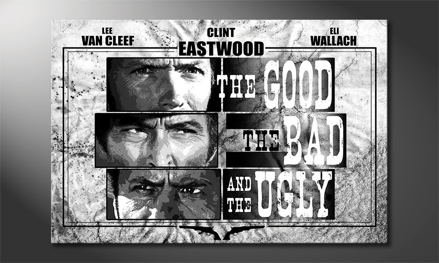 Art print Good, The Bad & The Ugly