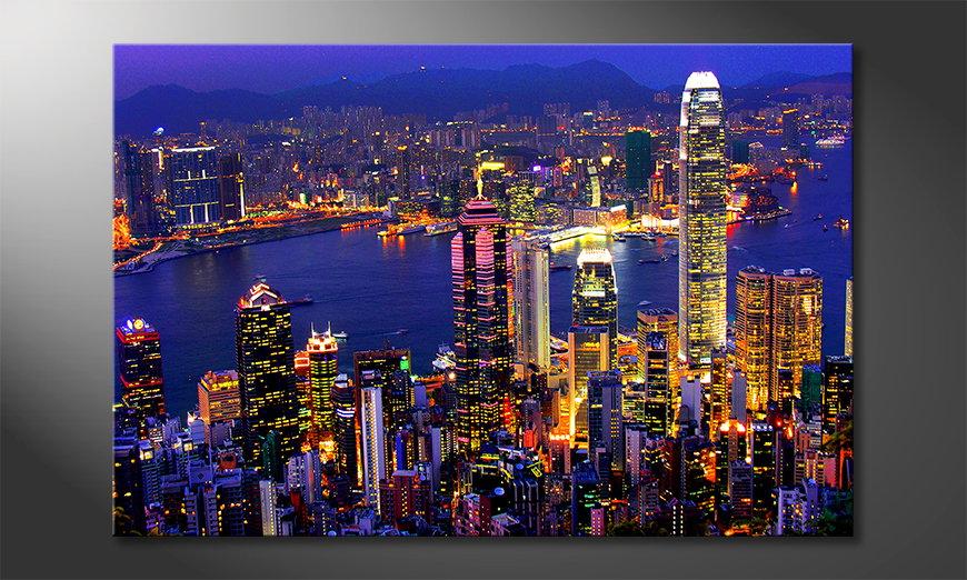 Art print Hongkong View