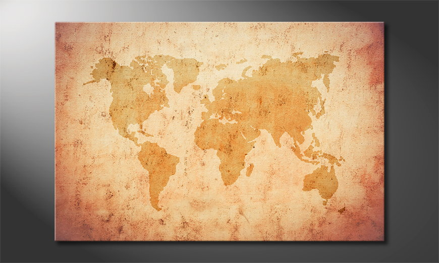 Art-print-Old-Worldmap