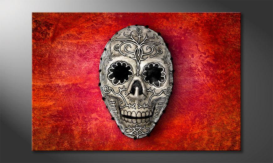 Art print Red Skull 120x80 cm