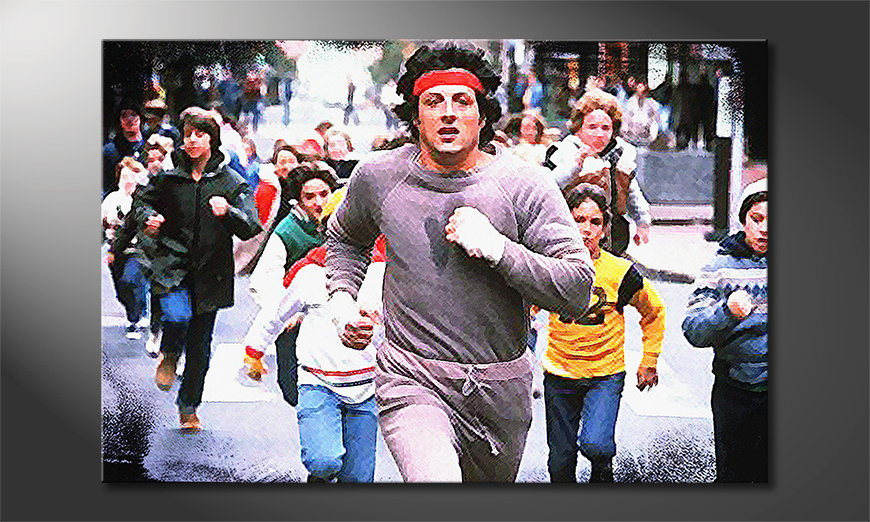 Art print Run Rocky Run