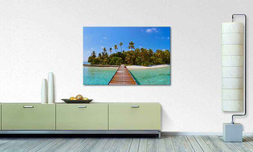 Art print Tropical Way