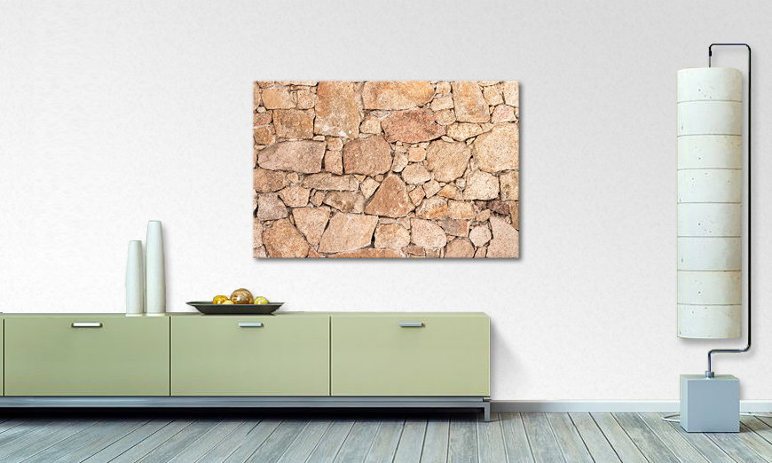 Art print Wall of Stones