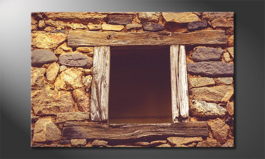 Art print Wooden Window