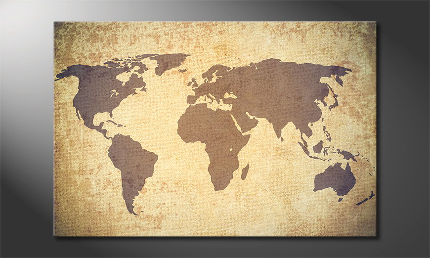 Art-print-Worldmap-Vintage