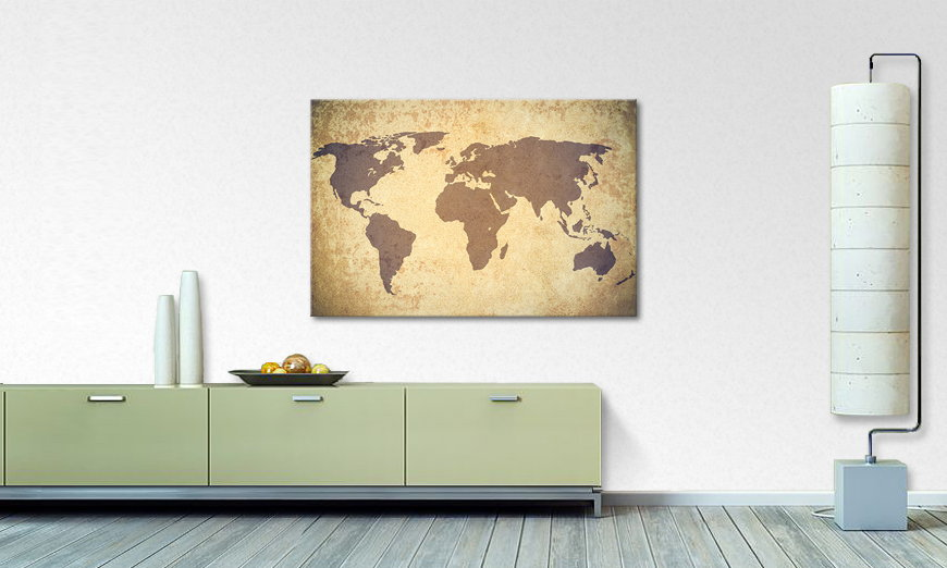 Art print Worldmap Vintage