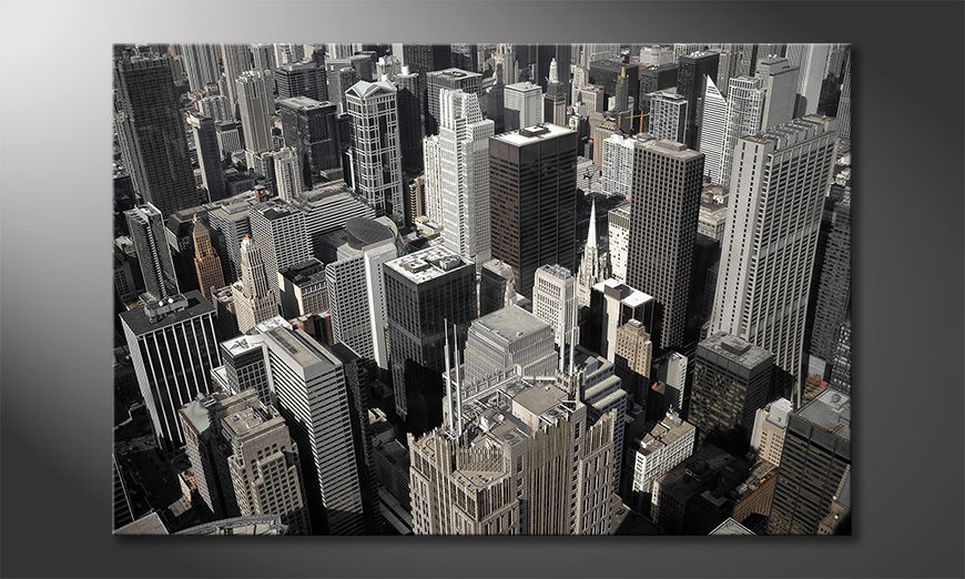Canvas art print City of Chicago