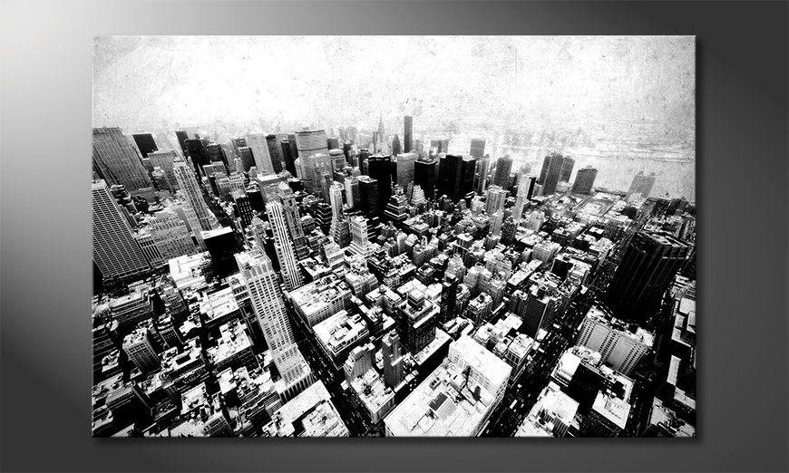 Canvas art print New York Vintage