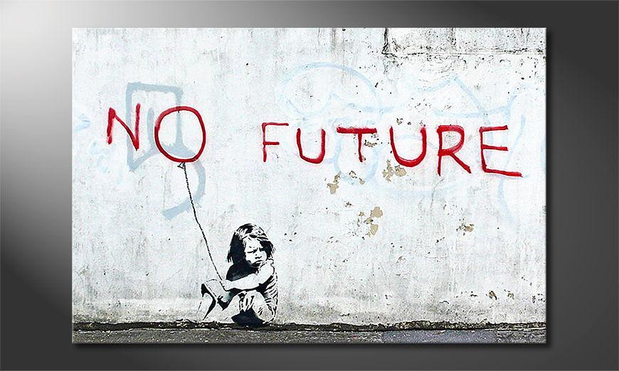 Canvas print Banksy No10