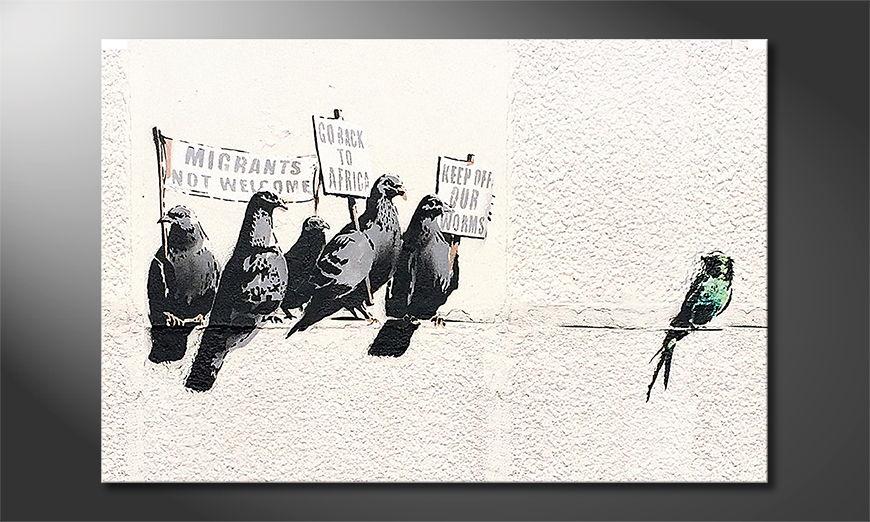 Canvas print Banksy No11