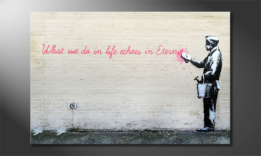 Canvas print Banksy No17