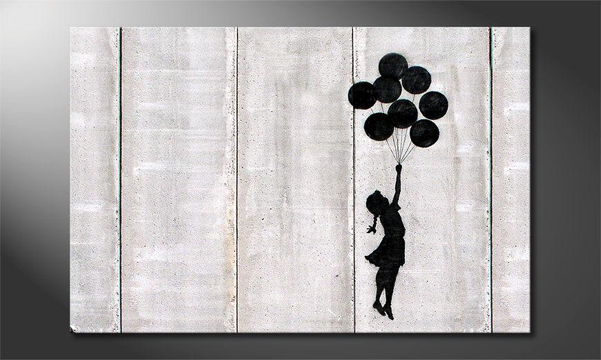 Canvas print Banksy No3