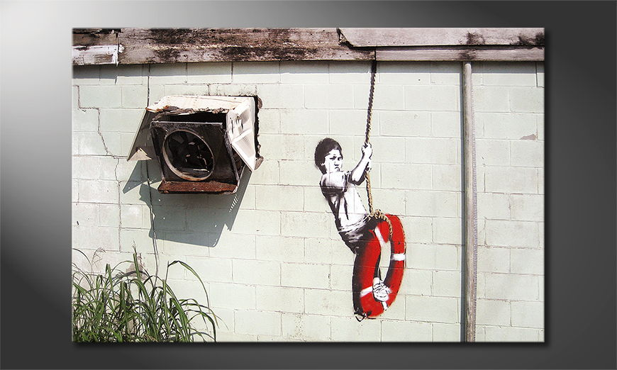 Canvas print Banksy No4
