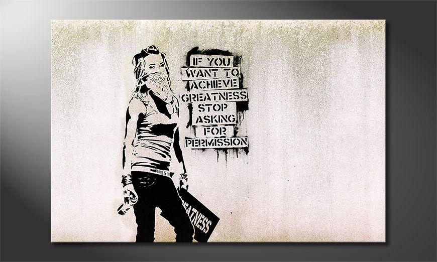 Canvas print Banksy No7