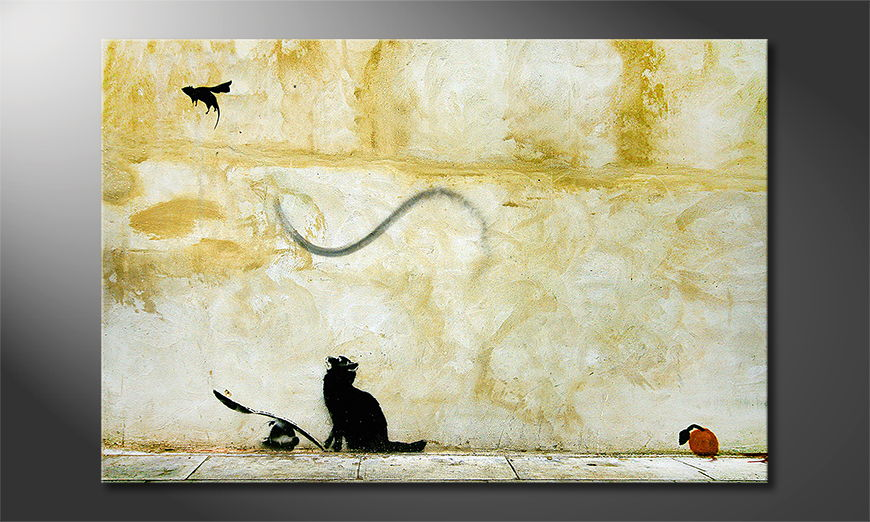 Canvas print Banksy No8