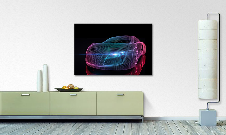Canvas print Car from Future