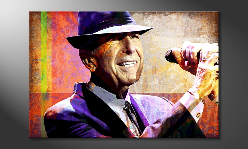 Canvas print Cohen in 6 sizes
