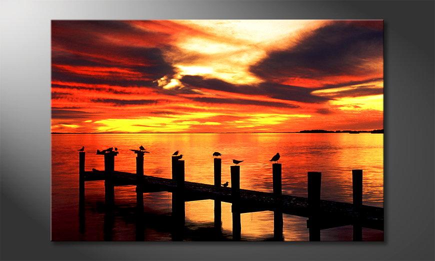 Canvas print Glowing Sky