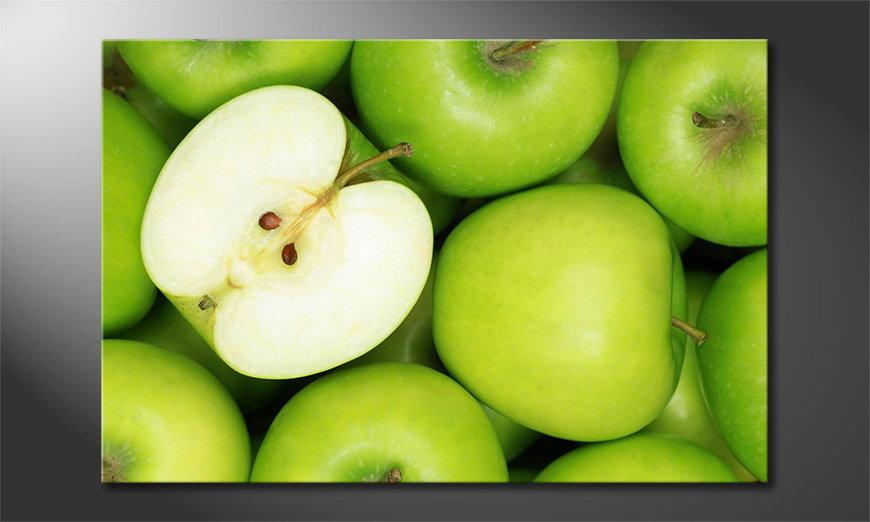Canvas print Green Apples