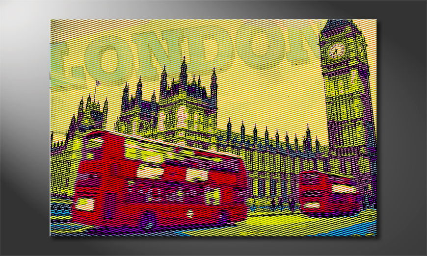 Canvas print London