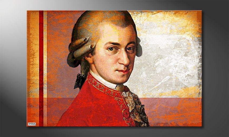 Canvas print Mozart