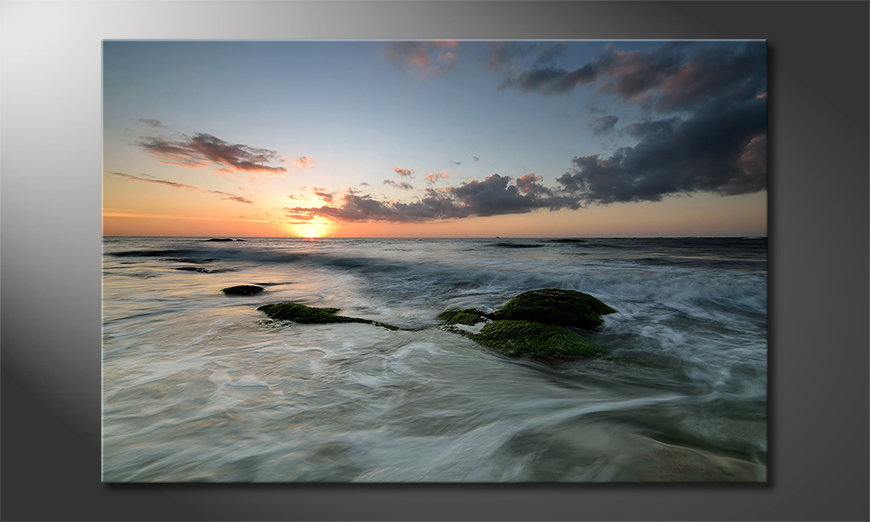 Canvas print Ocean Sunset