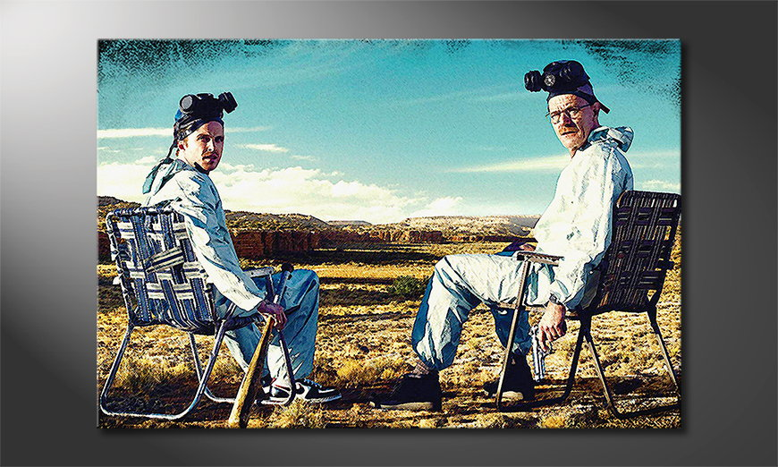Canvas-print-Walter-and-Jesse