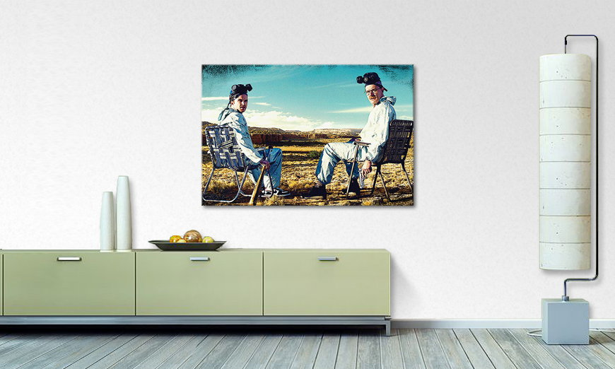 Canvas print Walter and Jesse