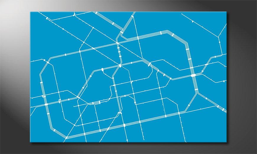 Cool art print Metro Berlin
