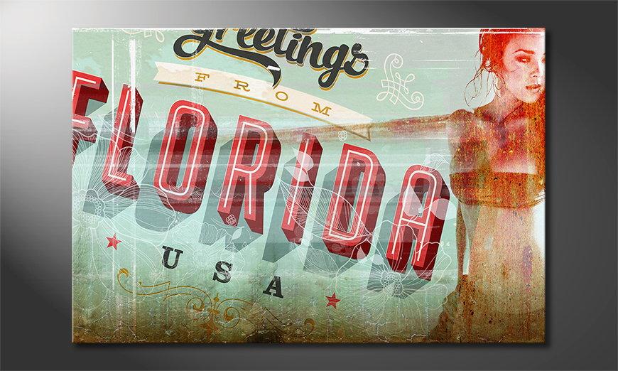 Erotic art print Florida Girl